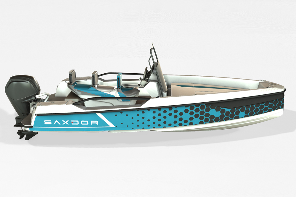 Saxdor Yachts -  Optional 200 Pro Sport – Optional Equipment - Pro Sport design package in turquoise