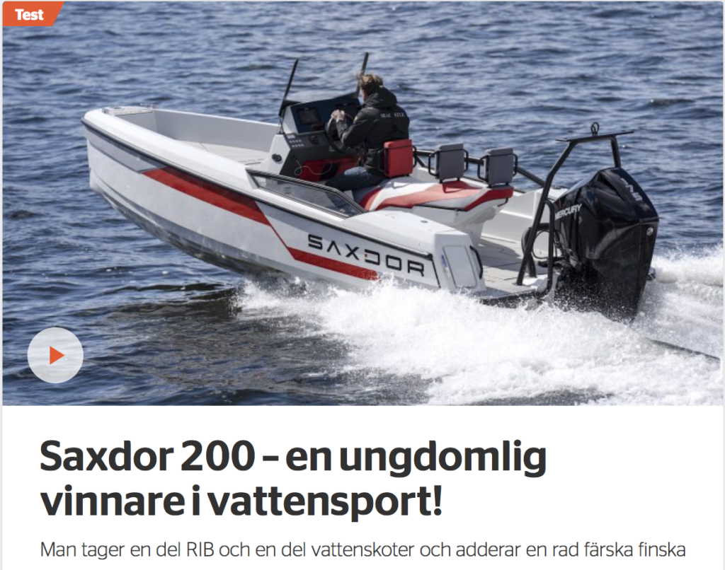 Saxdor 200 – en ungdomlig vinnare i vattensport! - Saxdor Yachts